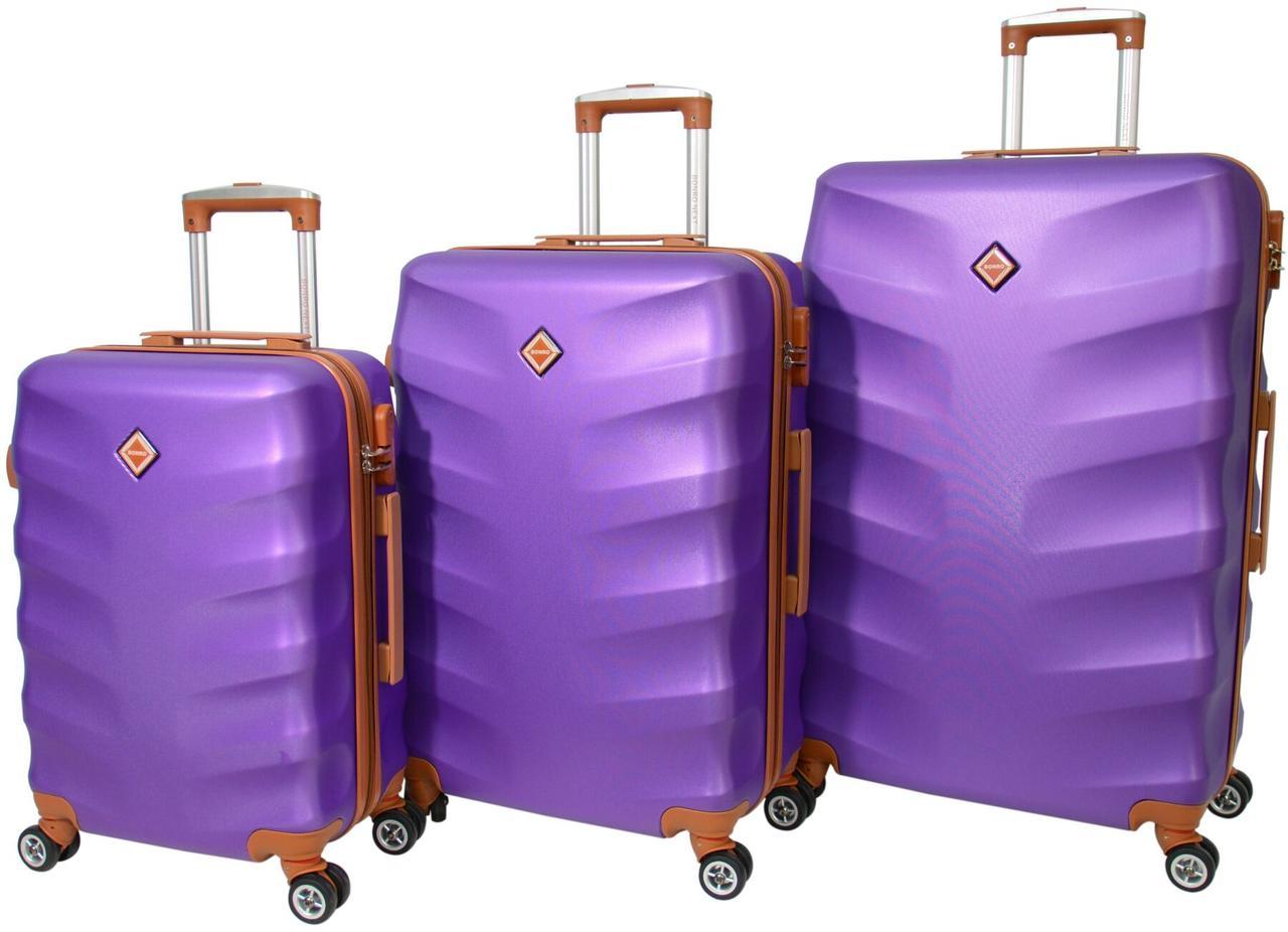 Набор чемоданов Bonro Next 3 штуки фиолетовый