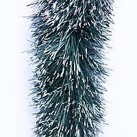 Новогоднее украшение - мишура, 300*12 см, ПВХ, зелено-белый (ГК-120/3-5)