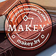 """Кошелек женский кожаный с карманом для монет """"Геометрия"""" (Макей). Цвет красный, фото 6"""