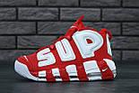 """Мужские кроссовки Nike Air More Uptempo """"Supreme"""" Red/White 37-45рр. Живое фото (Реплика ААА+), фото 2"""