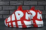 """Мужские кроссовки Nike Air More Uptempo """"Supreme"""" Red/White 37-45рр. Живое фото (Реплика ААА+), фото 3"""