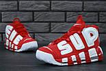 """Мужские кроссовки Nike Air More Uptempo """"Supreme"""" Red/White 37-45рр. Живое фото (Реплика ААА+), фото 8"""
