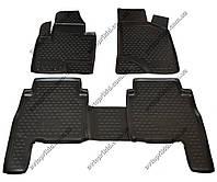 Полиуретановые коврики в салон Hyundai Santa Fe 2010-2012, 4 шт. (Novline)