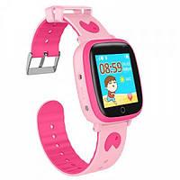 Smart Baby Watch Q11 Pink детские умные часы с трекером и телефоном, фото 1