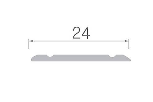 Алюминиевый профиль арт. 240 01/серебро 24х3х1800 мм, фото 2