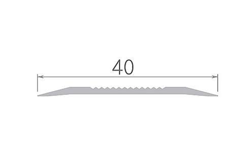 Алюминиевый профиль арт. 400 01/серебро 40х3х1800 мм, фото 2