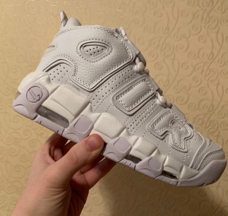 Мужские кроссовки Nike Air More Uptempo Triple White 36-45рр. Живое фото (Реплика ААА+)