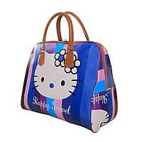 Дорожная женская сумка Китти, из искусственной кожи, синяя