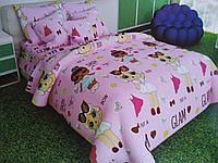 Комплект полуторного постельного белье Бязь (T-0206)