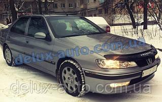 Ветровики Cobra Tuning на авто Peugeot 406 Sd 1995-2000 Дефлекторы окон Кобра для Пежо 406 седан 1995-2000