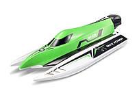 Катер на радиоуправлении WL Toys WL915 F1 High Speed Boat бесколлекторный. зеленый - 139897