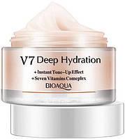 Витаминизирующий мультифункциональный крем с лифтинг эффектом Bioaqua V7 Deep Hydration (розовый), 50 г
