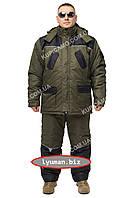 "Зимний костюм для охоты и рыбалки -30 ""Турист"" олива/чёрный"
