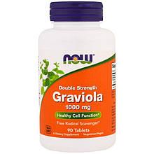 """Гравиола NOW Foods """"Graviola"""" подвійна концентрація, 1000 мг (90 таблеток)"""