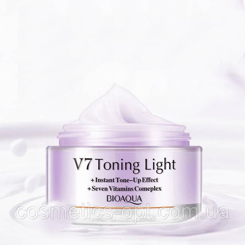 Витаминизирующий мультифункциональный крем для успокоения кожи Bioaqua V7 Deep Hydration (фиолетовый)