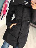Женская куртка удлиненная евро зима, фото 2