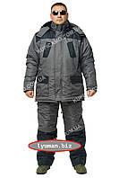 """Зимний костюм для охоты и рыбалки -30 """"Турист"""" черный/серый"""