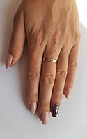 Обручальное кольцо серебро с Золотом, фото 1