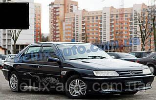 Ветровики Cobra Tuning на авто Peugeot 605 Sd 1989-2000 Дефлекторы окон Кобра для Пежо 605 седан 1989-2000