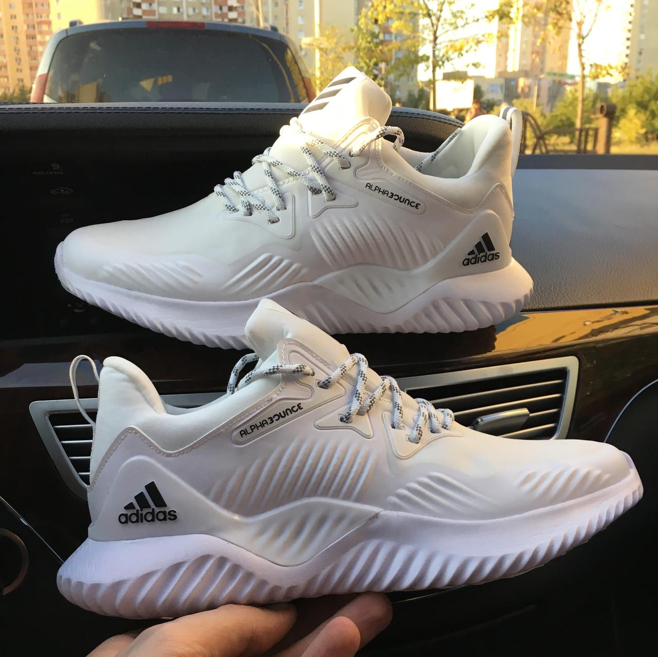 Мужские кроссовки Adidas Alphabounce Beyond M Elastic face white black, Реплика
