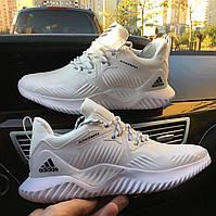 Мужские кроссовки Adidas Alphabounce Beyond M Elastic face white black, Реплика, фото 1