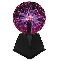 🔝 Плазменный шар, plasma light, цвет - черный, шар тесла | 🎁%🚚