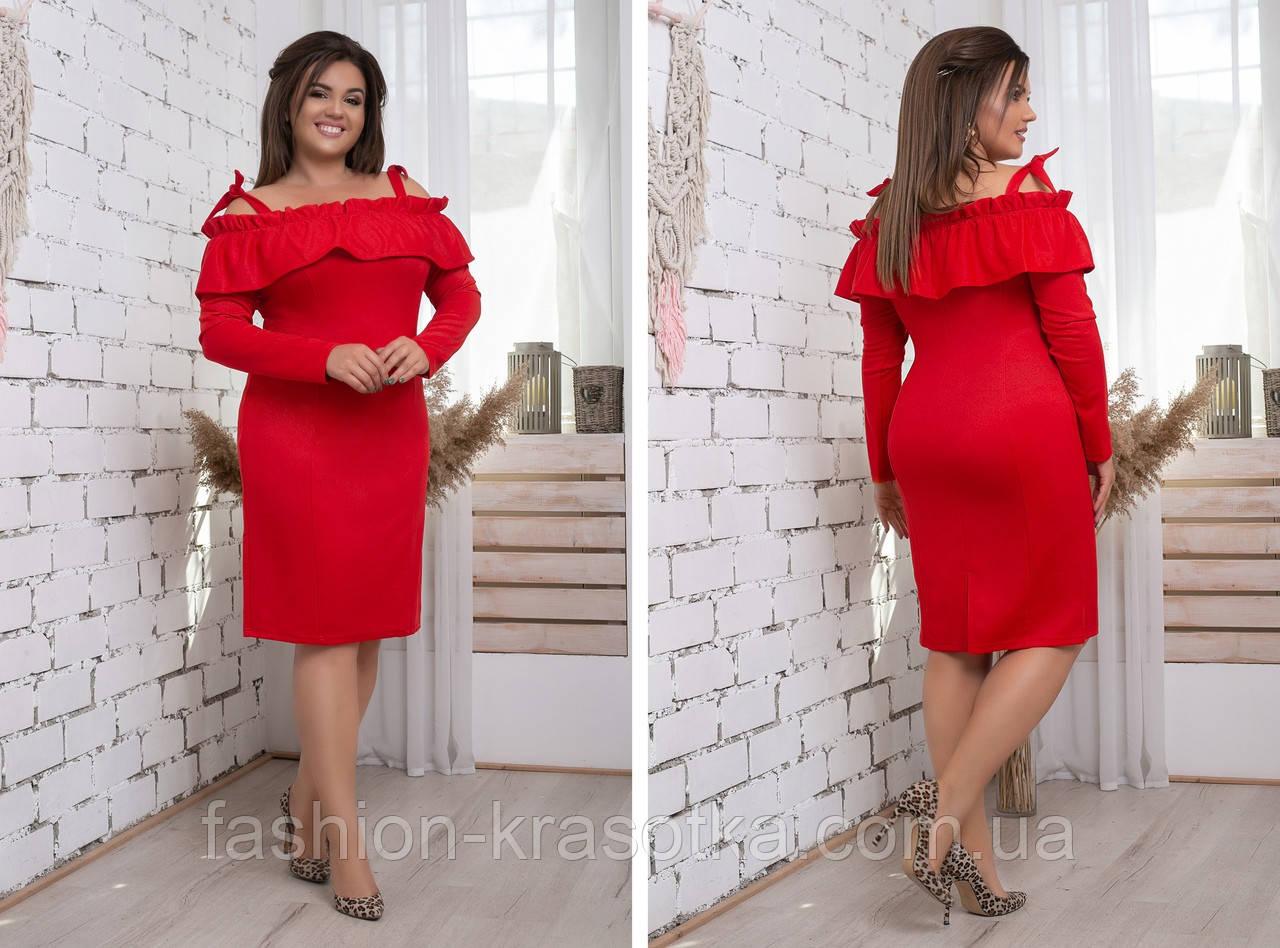 Модное женское платье ,ткань трикотаж с напылением,размеры:48,50,52,54.