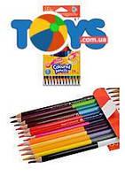 Карандаши цветные двусторонние Colorino 24 цвета, 33046PTR