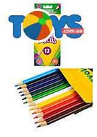 Цветные карандаши для творчества, 12 цветов, 3612
