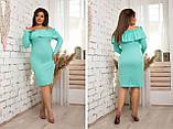 Модное женское платье ,ткань трикотаж с напылением,размеры:48,50,52,54., фото 2