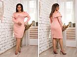 Модное женское платье ,ткань трикотаж с напылением,размеры:48,50,52,54., фото 3