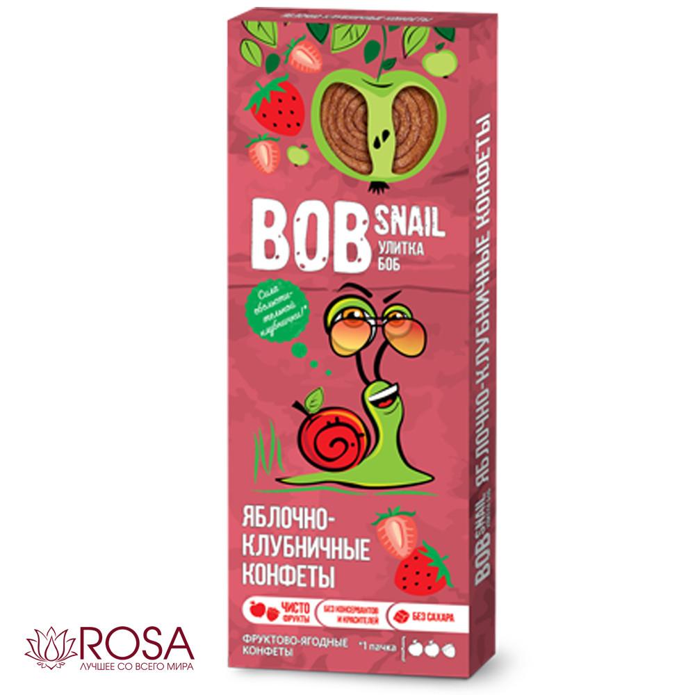 Натуральные конфеты Улитка Боб Яблоко-Клубника, 30 грамм (ТМ Bob Snail, Украина)