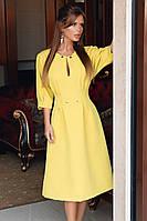 Женское стильное платье из креп - костюмки с 42 по 46 рр, фото 1