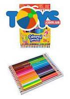 Карандаши цветные двухсторонние Colorino Duo Colors, 18 штук, 36 цветов , 68512PTR