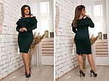Модное женское платье ,ткань трикотаж с напылением,размеры:48,50,52,54., фото 4