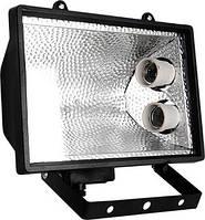 Прожектор e.save.light.2e27.1000.black под энергосберегающую лампу, 2 патрона Е27, черный