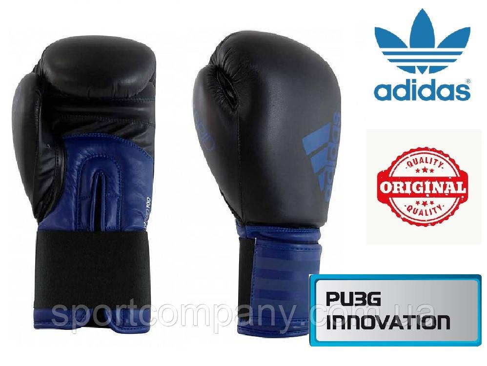 Перчатки для бокса Adidas Hybrid 100 (ADIH100, черно-синие)