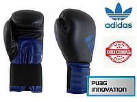 Перчатки для бокса Adidas Hybrid 100 (ADIH100, черно-синие), фото 1