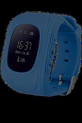 Детские Gps часы с функцией телефона и прослушки Q50. Синий