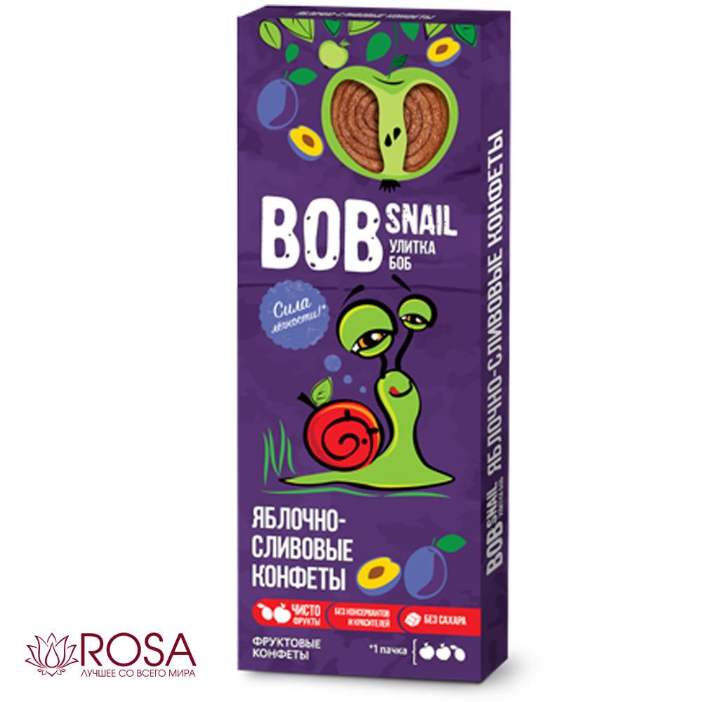 Натуральні цукерки Равлик Боб Яблуко-Слива, 30 грам (ТМ Snail Bob, Україна)