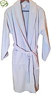 Турецкий махровый женский халат, голубой