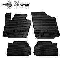 Skoda Rapid 2013- Комплект из 4-х ковриков Черный в салон