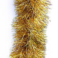 Новогоднее украшение - мишура, 300*12 см, ПВХ, золотистый (ГП-120/3-2)