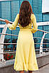 Женское платье на запах Желтый, фото 2
