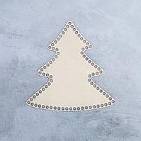 Донышко для вязаной корзины,елка 29*29 см