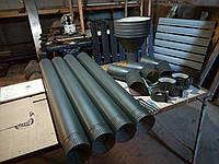 Труба димохідна L = 1м сталь. 0,5мм Розміри можуть змінюватися в залежності від побажань замовника