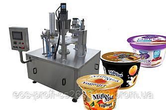 Автомат для наполнения и запайки стаканчиков