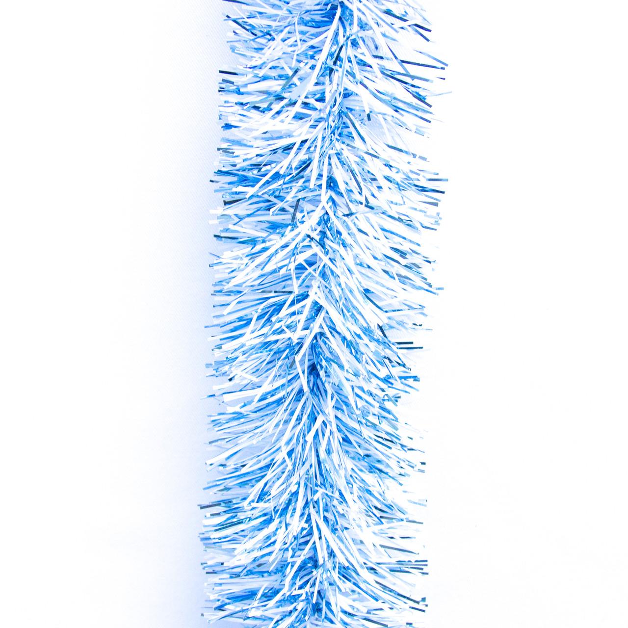 Новогоднее украшение - мишура, 200*5 см, ПВХ, голубой-белый (ГПС-50/2-3)
