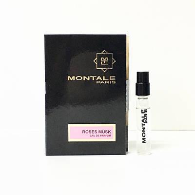 Нішева парфумерія від Montale жіночі деревні парфуми Roses Musk 2 мл пробник ( Насичений Рожевий Мускус)