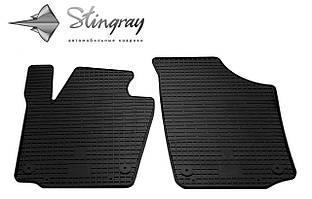 Skoda Rapid  2013- Комплект из 2-х ковриков Черный в салон